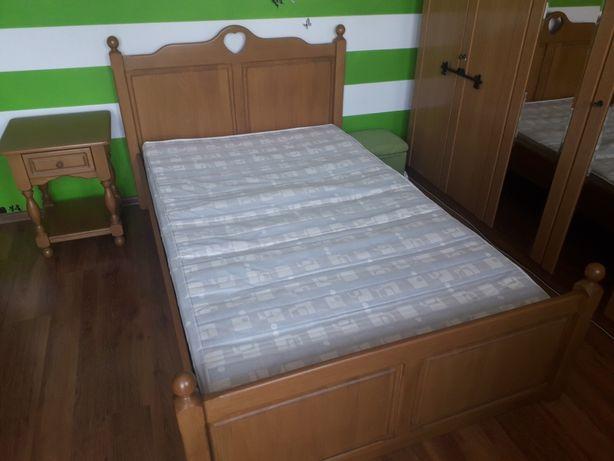Łóżko drewniane bukowe 120x200 szafka nocna