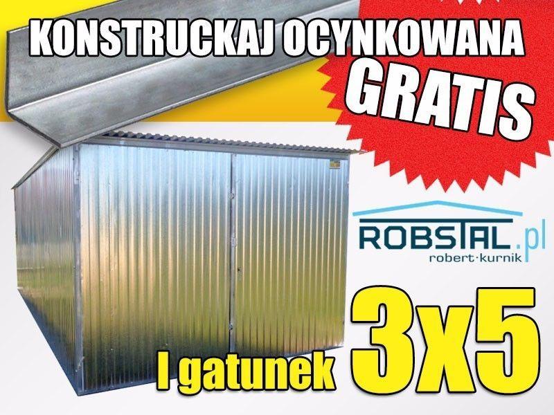 Montaz gratis Garaż blaszany 3x5 I gatunek KONSTRUKCJA OCYNKOWANA Przechlewo - image 1