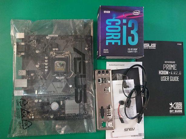 Zestaw procesor I3 9100F + płyta główna Asus prime H310M gwarancja