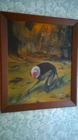 Pełzająca śmierć. Olejna kopia obrazu Z.Beksińskiego