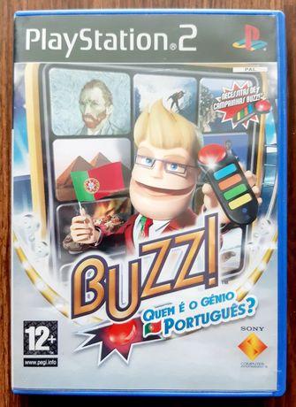 Jogo Sony PS2 Playstation Buzz! Quem é o Génio Português?
