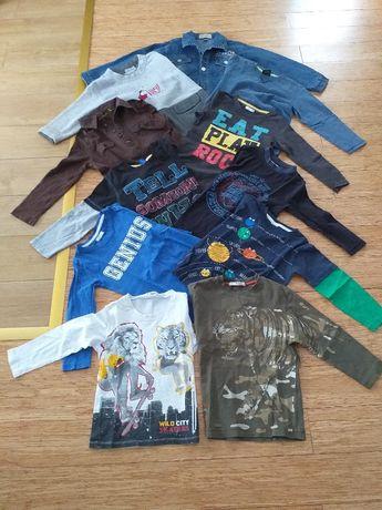 Zestaw dla 5-6 latka bluzki, koszule, spodnie, piżamki i buty
