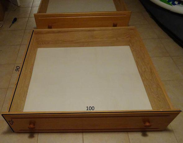 Sosnowe szuflady pod łóżko, 2 sztuki