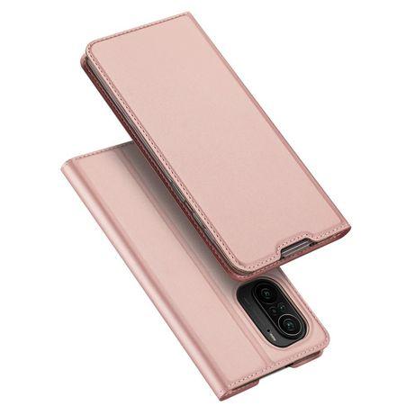 Capa Dux Ducis Skin Pro Bookcase Type Xiaomi Redmi K40 Pro+ / K40 Pro / K40 / Poco F3 Cor-De-Rosa
