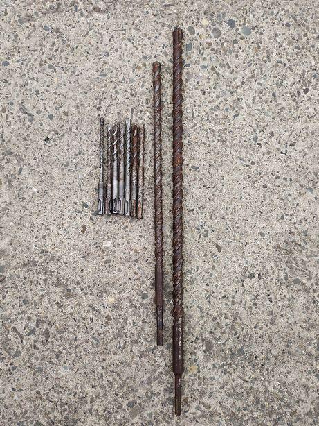 Wiertło wiertła do betonu SDS Plus zestaw 6, 8, 10, 12, 16x450, 20x600