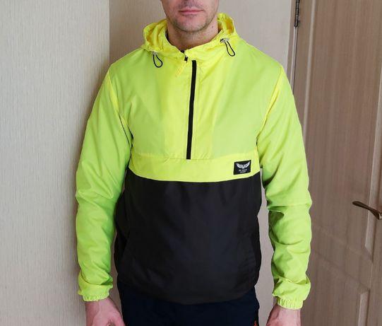 Спортиная куртка ветровка мужская на 176 - 182см состояние новой!