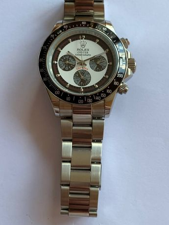 Rolex Daytona srebrny nowy zegarek Automat