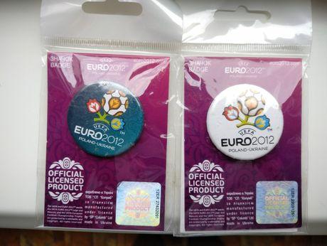 Значки Евро 2012 3 шт