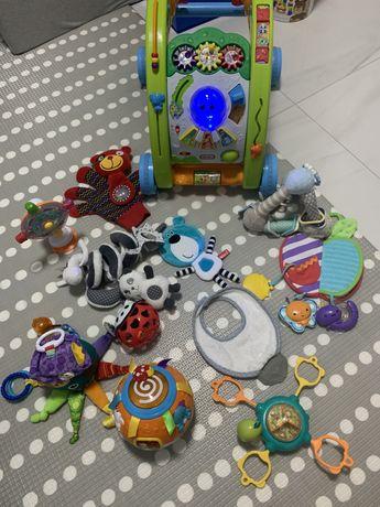 Zestaw zabawek 0-12miesiecy   12 zabawek w tym pchacz