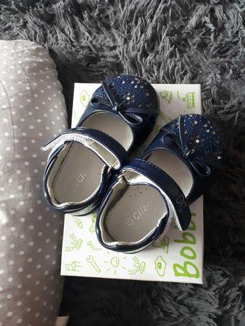 Granatowe buciki lakierki rozmiar 23 dla dziewczynki