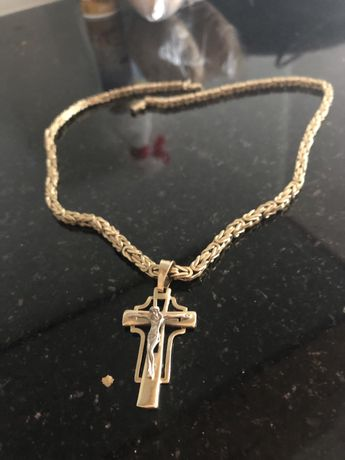 Złoty łańcuszek z krzyżykiem 585