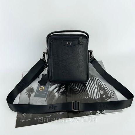 Мужская кожаная сумка через плечо H.T. Leather чоловіча шкіряна