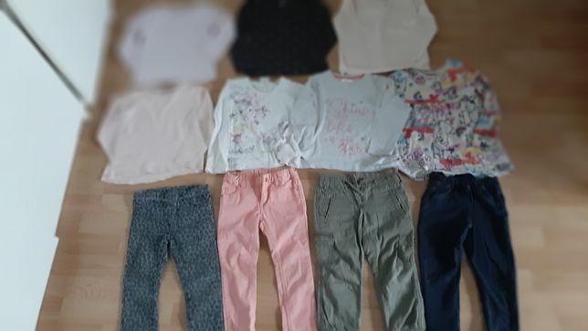 Paka ubrań bluzki spodnie stan bdb h&m tao zara 2-3lata 92/98