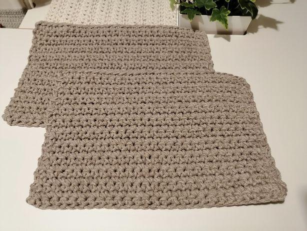 Podkładki ze sznurka bawełnianego hand made rękodzieło
