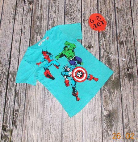 Фирменная футболка H&M для мальчика 6-8 лет, 116-128 см