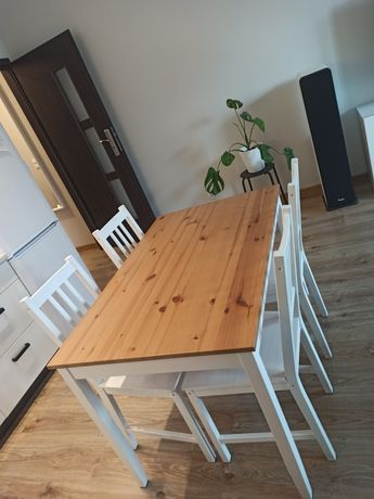 Ikea stół, ława lerhamn i 4x krzesło, krzesła Stefan Ikea