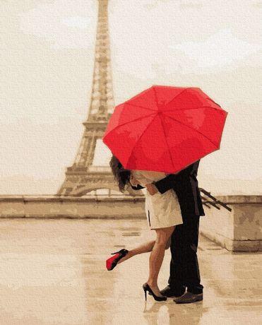 """Картина по номерах """"Побачення в Парижі"""""""