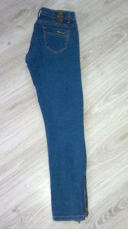 jeansy rurki z zamkami/s