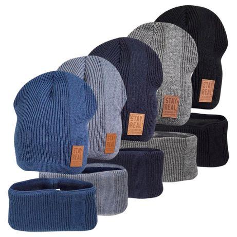 Комплект шапка с хомутом на флисе Реал ог. 52-54см
