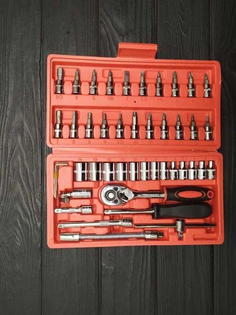 Набор инструментов 46 предметов хромированная сталь ручной инструмент!