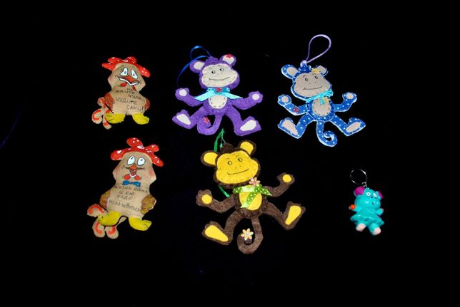 Игрушки 5 шт из фетра елочные новогодние на елку декор ручная работа