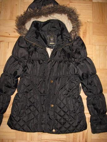 czarna kurtka LIPSY jesień zima rozm 38 boki pikowane