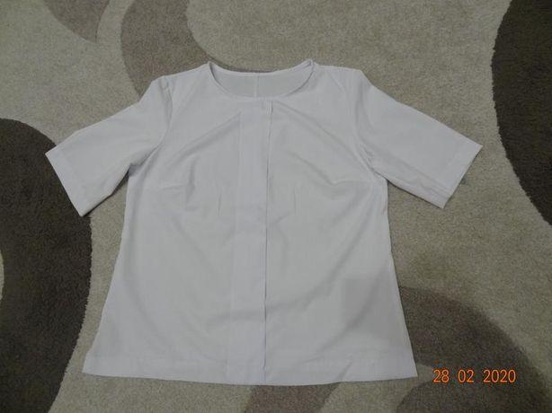 Красивая, нарядная, белая блуза, блузка (размер 46/38/М)