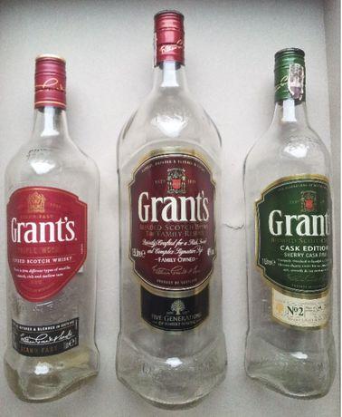 Butelki Po Whisky Grant's 0,7 1,0 1,5 Litra Różne