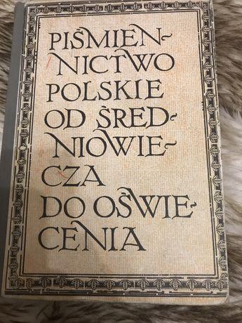 Książka pismiennictwo polskie od średniowiecza do oświecenia