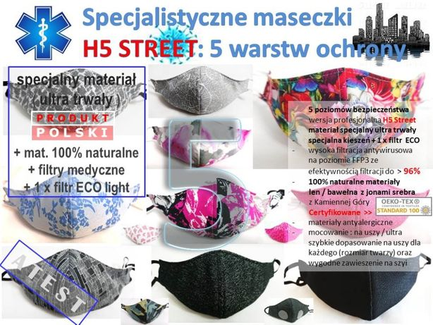 maska hybrydowa H5 ULTRA STREET ochrona C-19