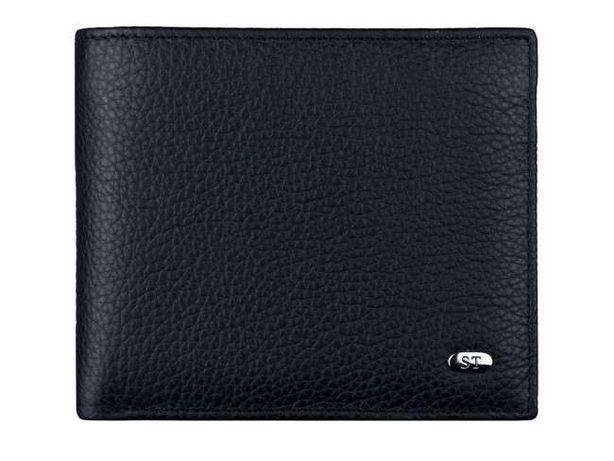 Черный мужской кошелек из натуральной кожи - ST Leather турция.