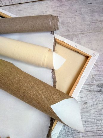 Холст грунтованный на подрамнике для живописи хлопок  лен