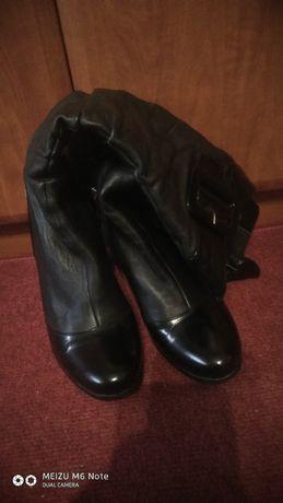Осінньо-весняні жіночі шкіряні чобітки р.37