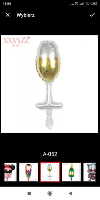Balon kieliszek szampana