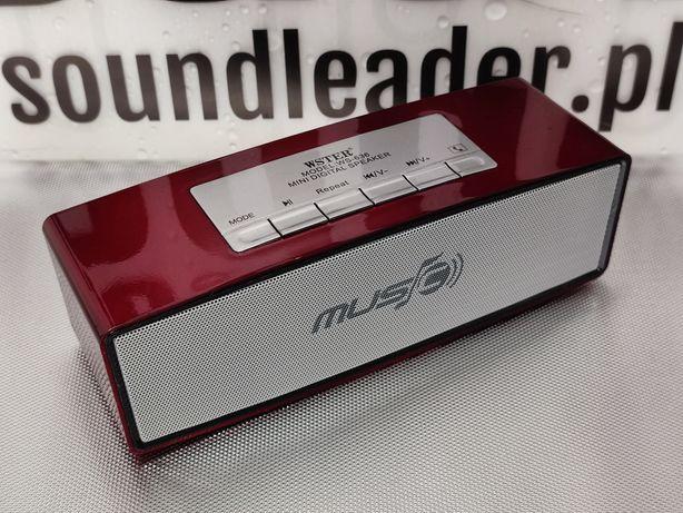 Głośnik bluetooth radio odtwarzacz MP3 zestaw głośnomówiący czerwony
