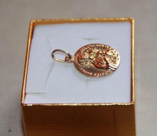 Złoty zawieszka wisiorek łańcuszek medalik bozia matka boska 585 Apart