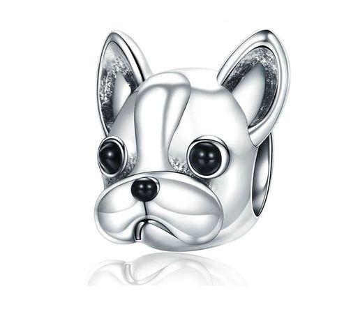 Srebrny charms pies piesek chihuahua do bransoletki Pandora