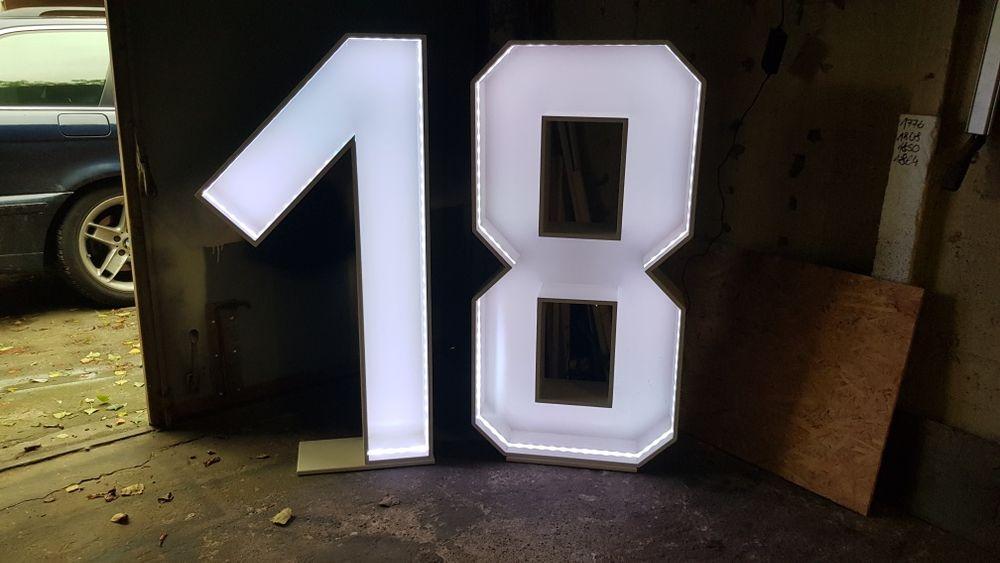 """Literki, napis """"18"""" osiemnastka Łódź - image 1"""