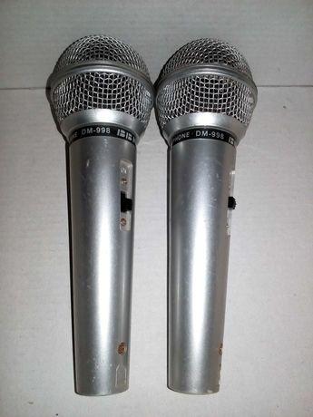 Микрофон BBK DM 998, 2 шт по цене одного! но надо кабель к ним только