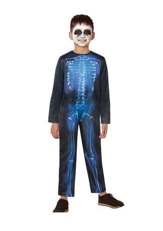 Костюм карнавальный хеллоуин Halloween скелет 7-10 лет р.122-134