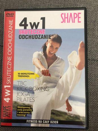 ćwiczenia DVD 4w1 skuteczne odchudzanie SHAPE