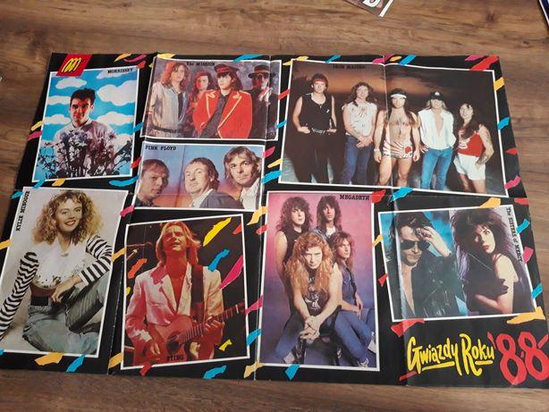 Plakaty gwiazdy  roku 1987,1988
