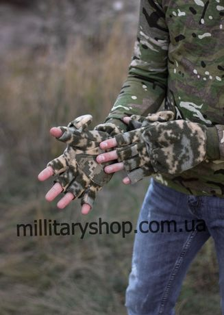 Перчатки - Варежки трансфомеры. Зимние рукавицы тактические. ЗСУ. ДПСУ