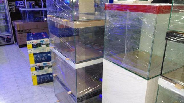Aquario 80x40x40 com tampa e perfil vidro lacado
