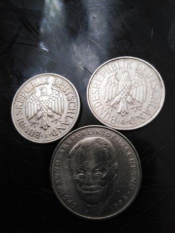 Niemcy monety 3sztuki