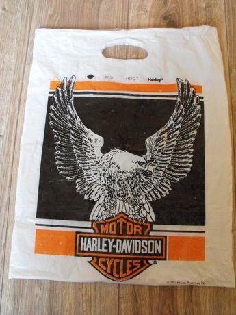 Reklamówka Harley-Davidson retro 1991 rok 45/36.5 cm