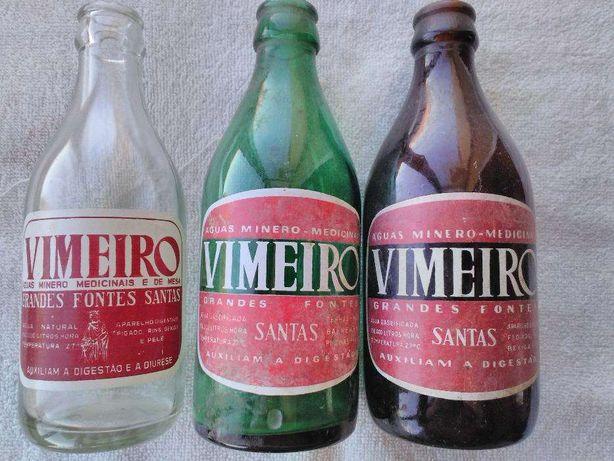garrafas antigas de Agua Vimeiro