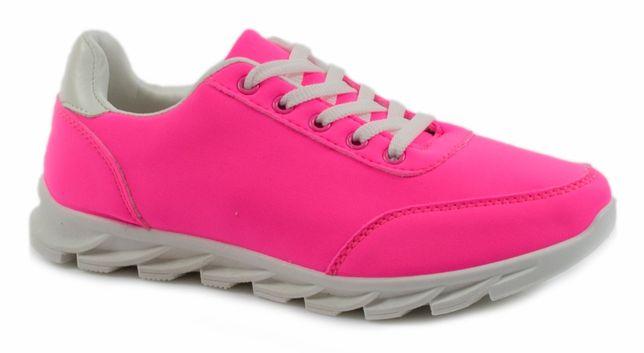 Nowe sportowe buty neonowy róż rozmiary 37,39,40