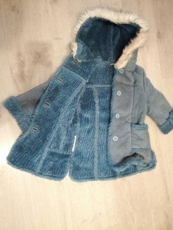 Cieply kozuszek plaszczyk kurtka zimowa ocieplana rozm 110