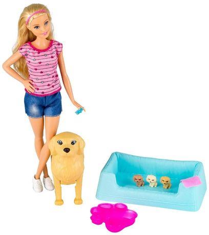 """Игровой набор"""" Барби и собака с новорожденными щенками""""."""